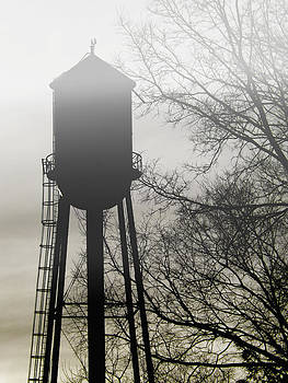 Kristie  Bonnewell - Foggy Tower Silhouette