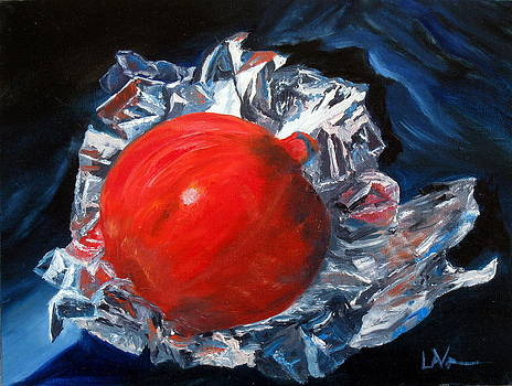 Foiled Pomegranate by LaVonne Hand