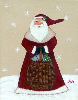 Folk Art Santa Claus by Anke Wheeler