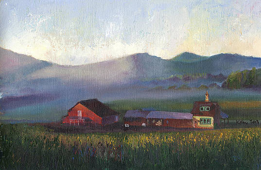 Folk School Barn at Dawn by William Killen