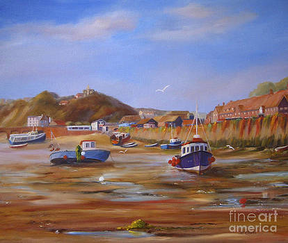 Folkestone harbour low tide by Beatrice Cloake