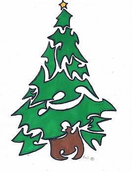 Folkey Christmas Tree by Kali Kardsbykali