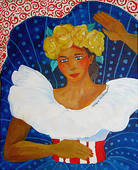 Monique Montney - Folkloric Dancer in Dots