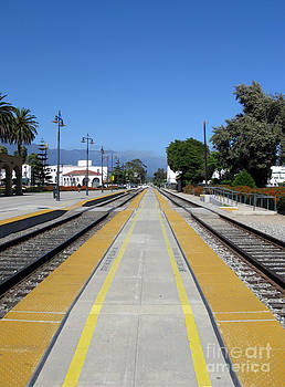 Follow The Yellow Brick Road. Santa Barbara. California. by Ausra Huntington nee Paulauskaite