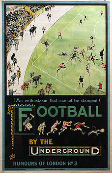 Football by the Underground by Vintage
