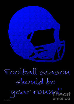 Andee Design - Football Season Should Be Year Round In Blue