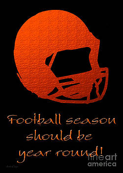 Andee Design - Football Season Should Be Year Round In Orange