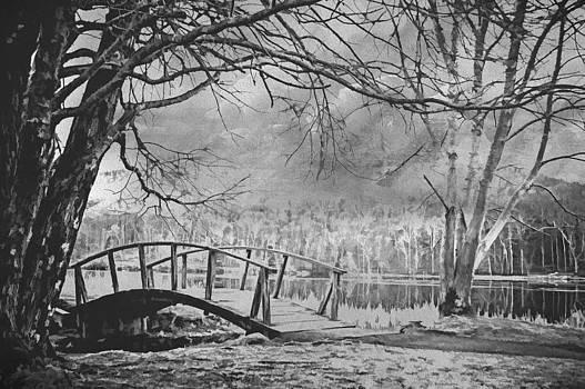 Footbridge At The Peaks by Kathy Jennings