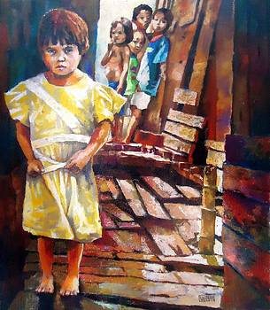 Footbridge in the Slum by Bong Perez