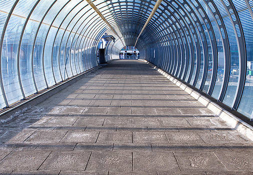 Fizzy Image - footpath and tunnel made of glass