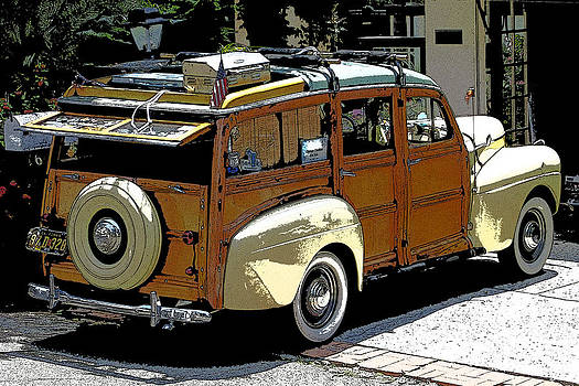 Ford Woodie by Anne Mott