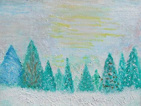 Forest in Winter by Edie Schmoll
