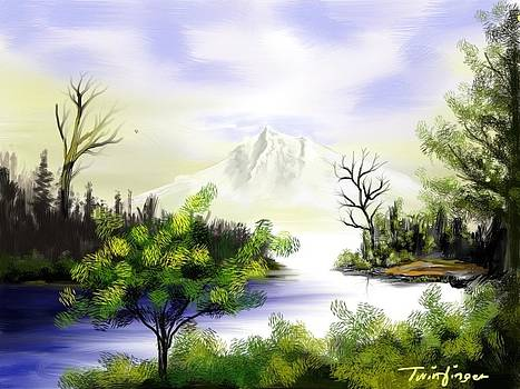 Forest Lake by Twinfinger