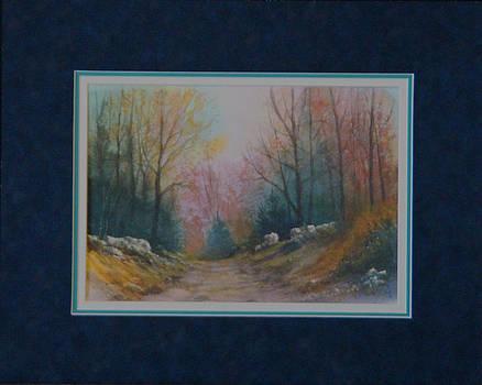 Forest Path  140102-913WC by Kenneth Shanika