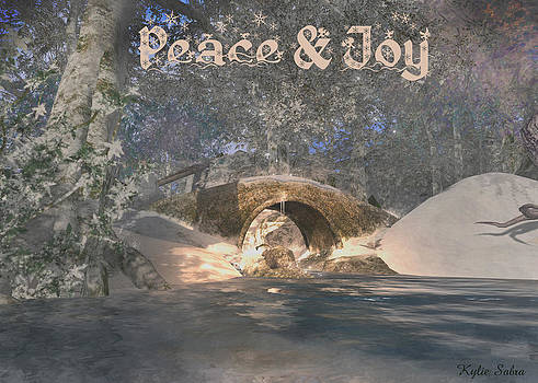 Forest Stream Peace and Joy by Kylie Sabra