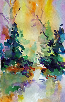 Forest Watercolor by Karen Ahuja