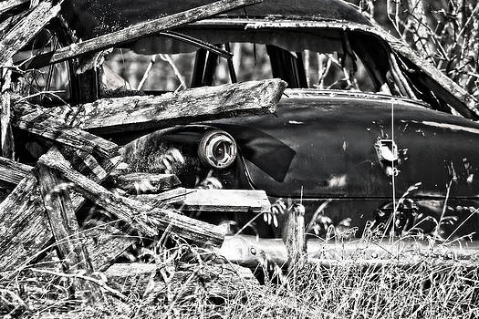 Ms Judi - Forgotten Vintage Car Black and White