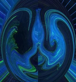 Forming Of Mother Earth Abstract by Christina Shaskus