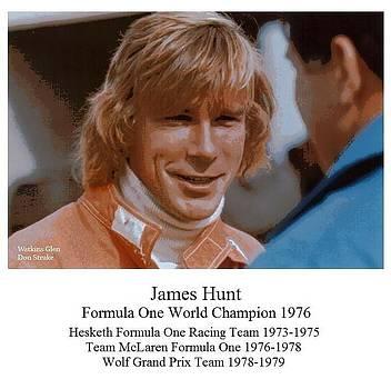 Formula One World Champion James Hunt by Don Struke