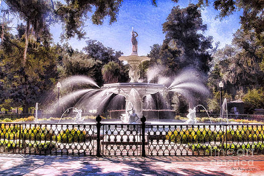 Forsyth Park Fountain by Linda Blair
