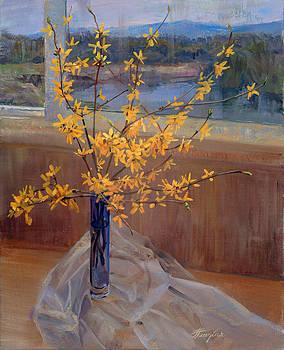 Forsythia by Galina Gladkaya
