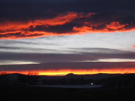 Fort Collins CO Sunset in February by Tammy Sutherland