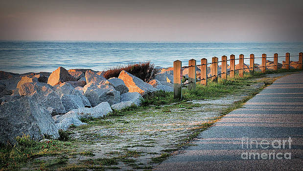 Fort Fisher Rocks At  Sunrise by Phil Mancuso