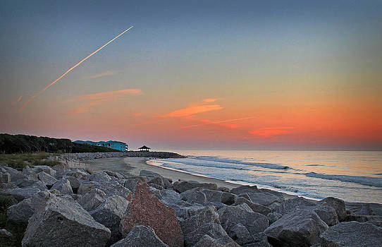 Fort Fisher Sunrise Rocks by Phil Mancuso