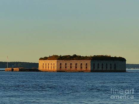 Christine Stack - Fort Gorges in Casco Bay Portland Maine