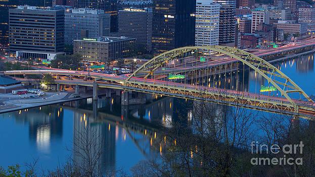 Fort Pitt Bridge by Mike Vosburg