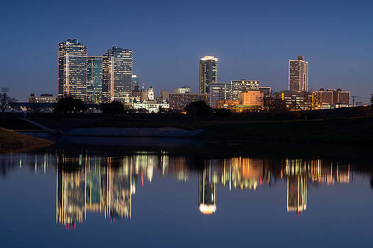 Fort Worth Skyline 020915 by Rospotte Photography