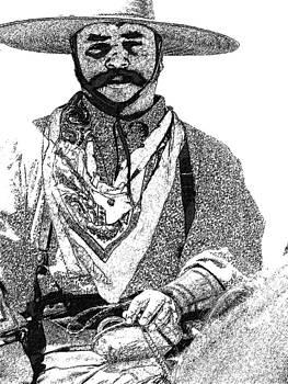 Fort Worth Stockyard Cowboy by Kathy Churchman