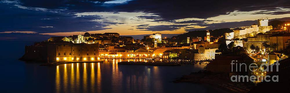 Oscar Gutierrez - Fortefied medieval city of Dubrovnik Croatia at dusk