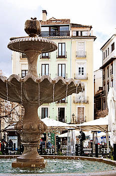 Angela Bonilla - Fountain and Pastel Buildings in Plaza Nueva Granada Spain