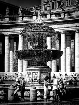 Fountain at the Vatican by Karen Lindale