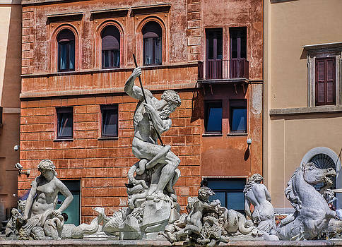 Fountain of Neptune - Piazza Navona  by Dany Lison
