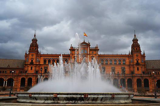 Jenny Rainbow - Fountain on Plaza de Espana. Seville