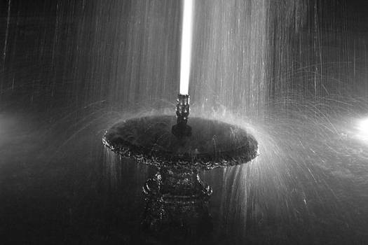 Fountain Spray by Bill Mock