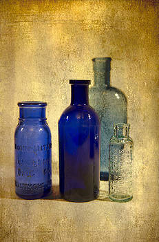 Four bottles by Peter Chadwick