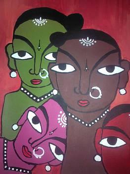 Four Colourul Girls by Neha  Shah