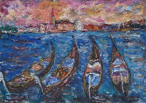 Four Gondolas by Borislav Djukanovic