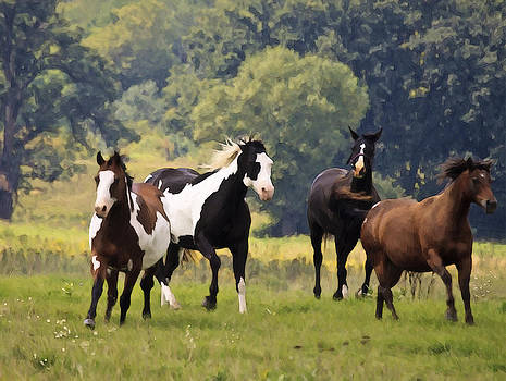 Four Horses by John Hix