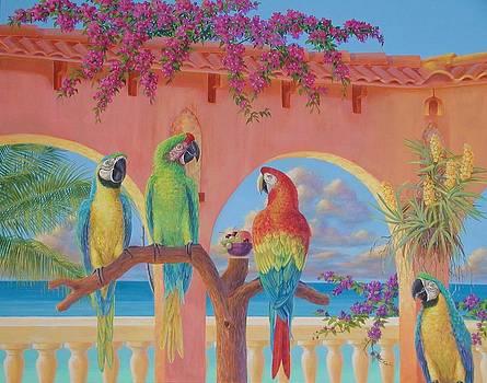 Four Macaws by Bonnie Golden