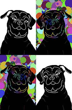 Four Pugs by Chris Goulette