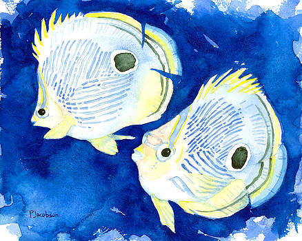 Foureye Butterflyfish by Pauline Jacobson