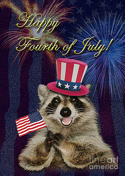 Jeanette K - Fourth of July Raccoon