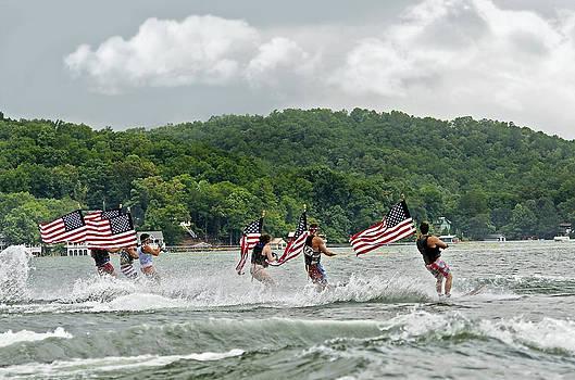 Fourth of July Water Skiers by Susan Leggett