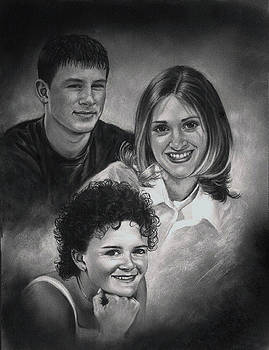 Fowler children by Artist Karen Barton