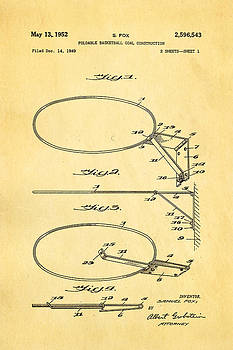 Ian Monk - Fox Foldable Basketball Goal Patent Art 1952