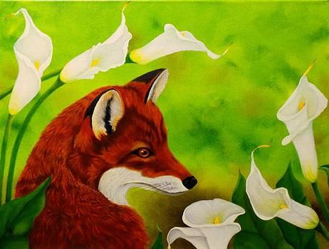 Fox In The Lilies by Carol Avants